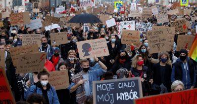 """Mujeres polacas: """"Esto es una guerra"""""""